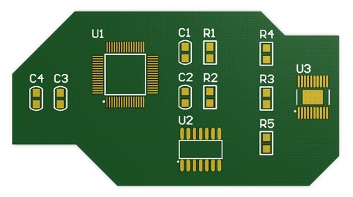 Non-Standard Shaped Printed Circuit Board